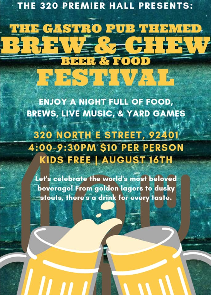 320 Premier Hall - Brew and Chew Festival Flyer