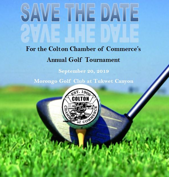 Announcement for the 2019 golf tournament.